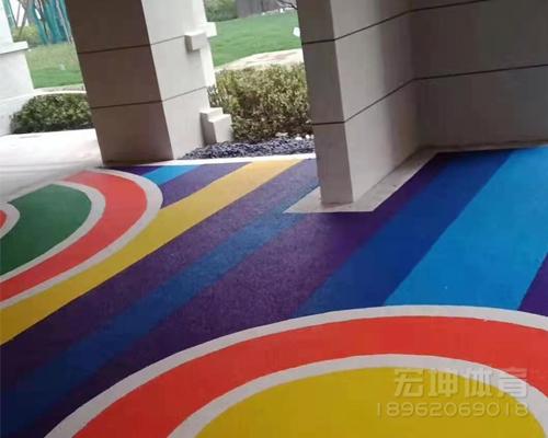 浙江象山县小区室内塑胶地坪