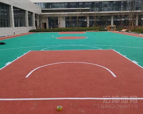 盐城滨海第三人民医院塑胶篮球场